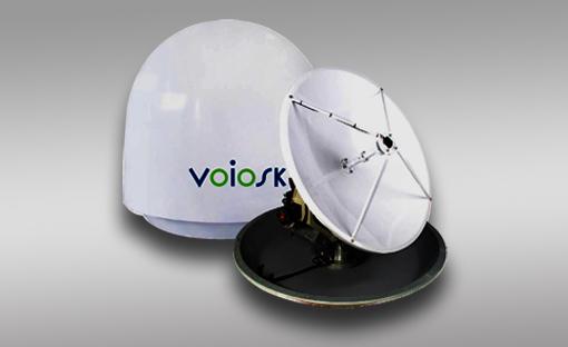 船载移动卫星通信天线VOIOSK V64